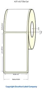 "Epson 4"" x 6.5"" Matte Polypropylene Labels for TM-C3400 & TM-C3500"