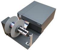 Primera RW-12 Label Rewinder attached to LX900 Color Label Printer