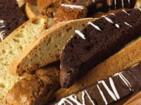 Chocolate Dipped Hazelnut Biscotti