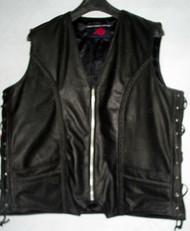 Leather Vest Style MLV1359 www.leather-shop.biz front pic