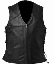 Leather Vest Style WLV1202 available in 8 colors