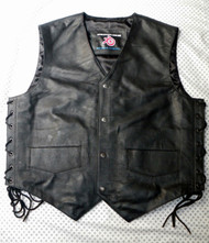 Leather vest 732 www.leather-shop.biz front image