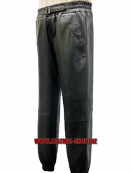 Leather sweat pants style LSP006 WWW.LEATHER-SHOP.BIZ front/side pic