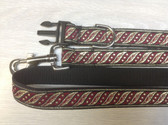 Edward VI Burgundy Designer Dog Collar & Lead