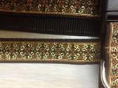 """ANJOU Designer Dog Collar & Lead. Gold. 11""""-15"""""""