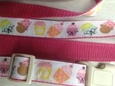 "SEBASTIAN I Designer Dog Collar & Lead. Cupcakes. 11""-15"""