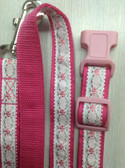 "FERDINANO I Designer Dog Collar & Lead. Floral. 11""-15"""