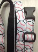 """DENIS I Designer Dog Collar & Lead. Baseball. 11""""-15"""""""