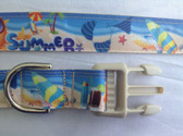 "Summer Dog Collar & Leash  15""-22"""