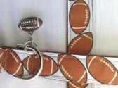 "FOOTBALL Dog Collar & Leash. 11""-15"""