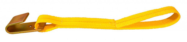 "WS313 --- 3"" Cargo Winch Strap with Flat Hook - 13"""