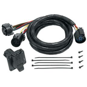20110 --- Tekonsha 5th Wheel Adapter Harness -7-Way Flat Pin U.S. Car Connector Assembly 7'
