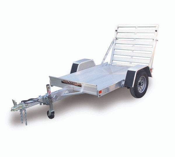 "AL548 --- 54"" x 8' Aluminum Utility Trailer with Ramp Gate"