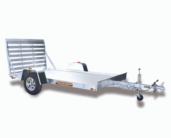 "AL7210 --- 72"" x 10' Aluminum Utility Trailer with Ramp Gate"
