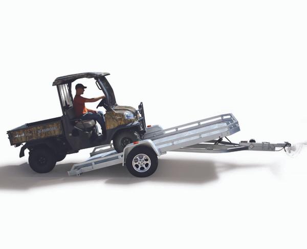 """AL6812HTILT --- 68"""" x 12' Aluminum Utility Heavy Duty Tilt Trailer"""