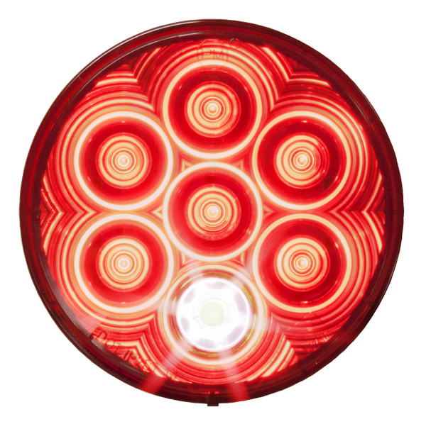 "LED882R7 --- Round 4"" Sealed LED Tail Light with Back-Up"