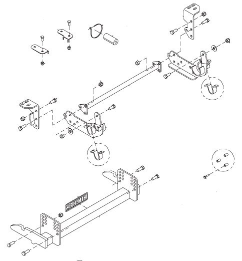 hn25013120 --- hiniker quick-hitch plow mount kit for ford f250-f550