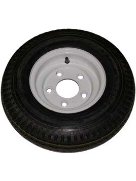"WT8-5WPD --- 8"" Trailer Wheel and Tire Assembly, 5 on 4-1/2"""
