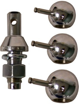 "900B --- Convert-A-Ball Kit, 1"" Nickel Regular Shank plus 1-7/8"", 2"" and 2-5/16"" Nickel Hitch Balls"