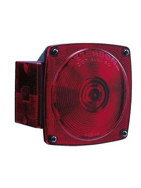 "440 --- Square Combination Right Tail Light and Side Marker - For Under 80"" Wide Trailer"