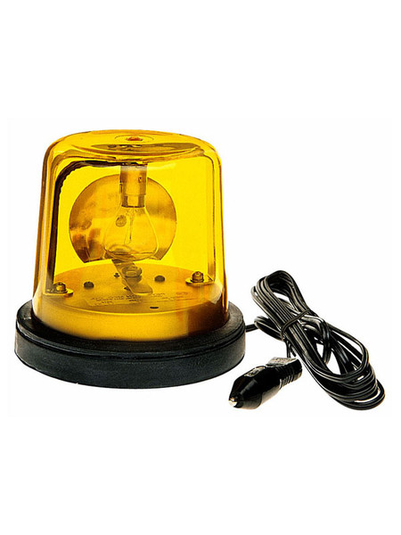 763A --- Revolving Amber Safety Light with Auxiliary Plug