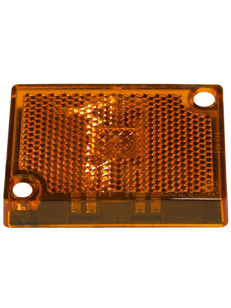 114-15A --- Peterson Replacement Amber  Rectangular Lens with Reflector