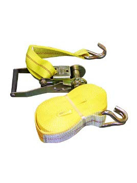 "HD-30FTJ --- Heavy Duty Tie Down Strap with Ratchet - J Hook End Fittings - 2"" x 30'"