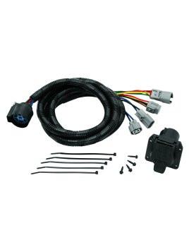 20113 --- Tekonsha 5th Wheel Adapter Harness -7-Way Flat Pin U.S. Car Connector Assembly 7'