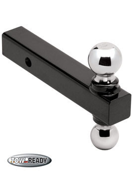"CB1802210 --- Tow Ready Ball Mount, Combination 1 7/8"" and 2"" Welded Chrome Hitch Balls, 6,000 lb maximum Capacity"