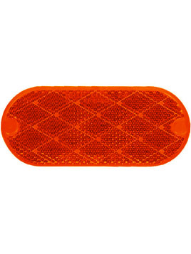 480R --- Oblong Red Reflector - Quick Mount
