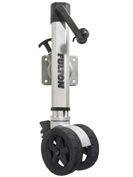 F21600TT45 --- Fulton Swivel Sidewind F2 Trailer Jack with Twin Track Caster - 1,600 lb Capacity