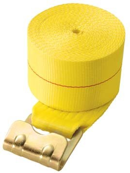 "WS427FH-Y --- 4"" Cargo Winch Strap with Flat Hook"