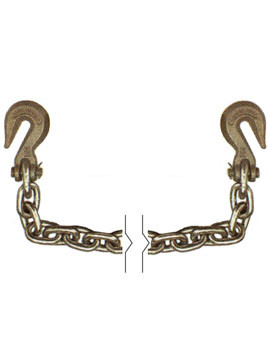 "G7012X20 --- 1/2"" Transport Chain Assembly with 3/8"" Clevis Grab Hooks on Both Ends - Grade 70"