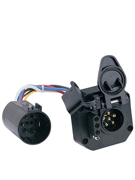 40965 --- 6-Way Socket and 4-Prong Flat OEM Connector with Bracket