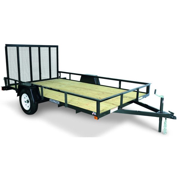 "STR6010G --- 6' x 10' Trailer with 11"" Rails and Ramp Gate"