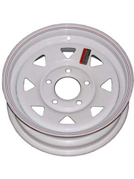 "W15-550WS --- 15"" Trailer Wheel, 5 on 5"""