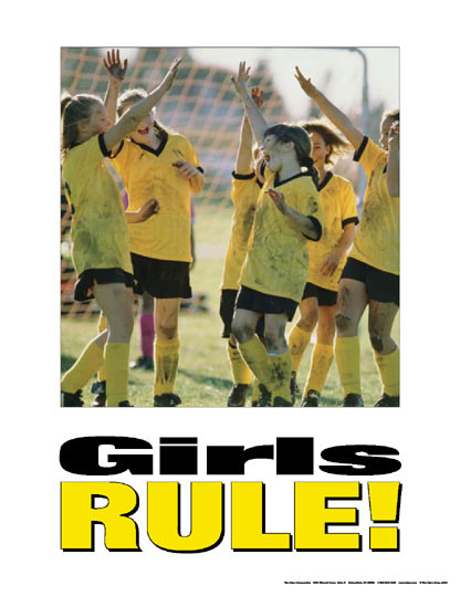 Girls Rule!- Kids Poster