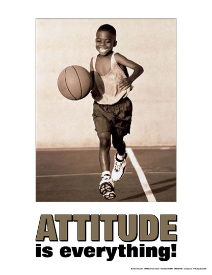 Attitude Is Everything- Kids Poster