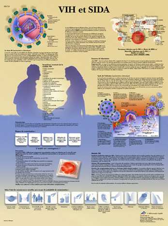 Vih Et Sida Poster Clinical Charts And Supplies