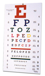 Colored Eye Chart
