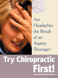 Chiropractic First: Female Headache Poster