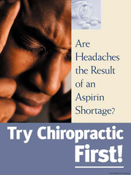 Chiropractic First: Male Headache Poster