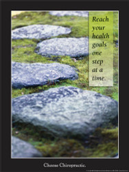 Reach Your Health Goals One Step At Time Poster