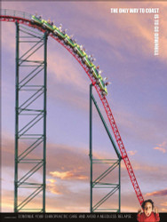 Roller rcoaster Chiropractic Poster