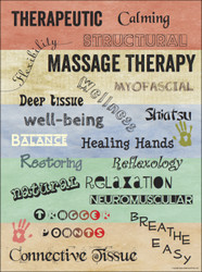 Massage Text Poster