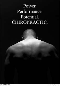 Power Of Chiropractic Poster Clinical Charts And Supplies