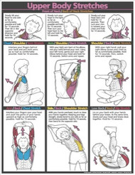 Children Upper Body Stretches Poster
