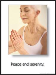 Peace & Serenity Yoga Poster