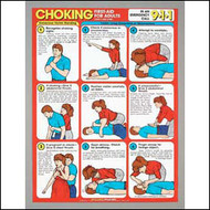 First aid Choking First Aid For Adults Chart
