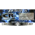 Custom Radio Gift Certificate